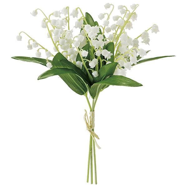 好評 造花 すずらん ブーケ 店舗 全長24cm 3束セット 1着でも送料無料 花材 1束3本×3束 花束 鈴蘭