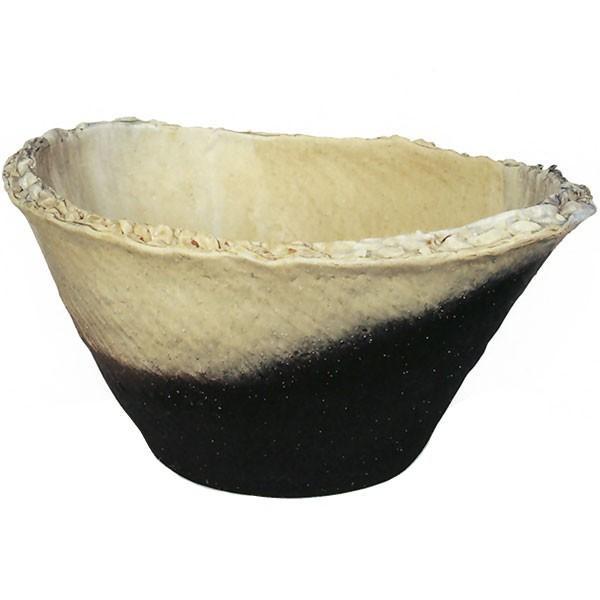 日本製 水鉢 窯変小判型 20号 全高30cm×幅60cm 信楽焼き しがらきやき 陶器製 睡蓮鉢 水蓮鉢 スイレン鉢 ハイドロカルチャー ビオトープ
