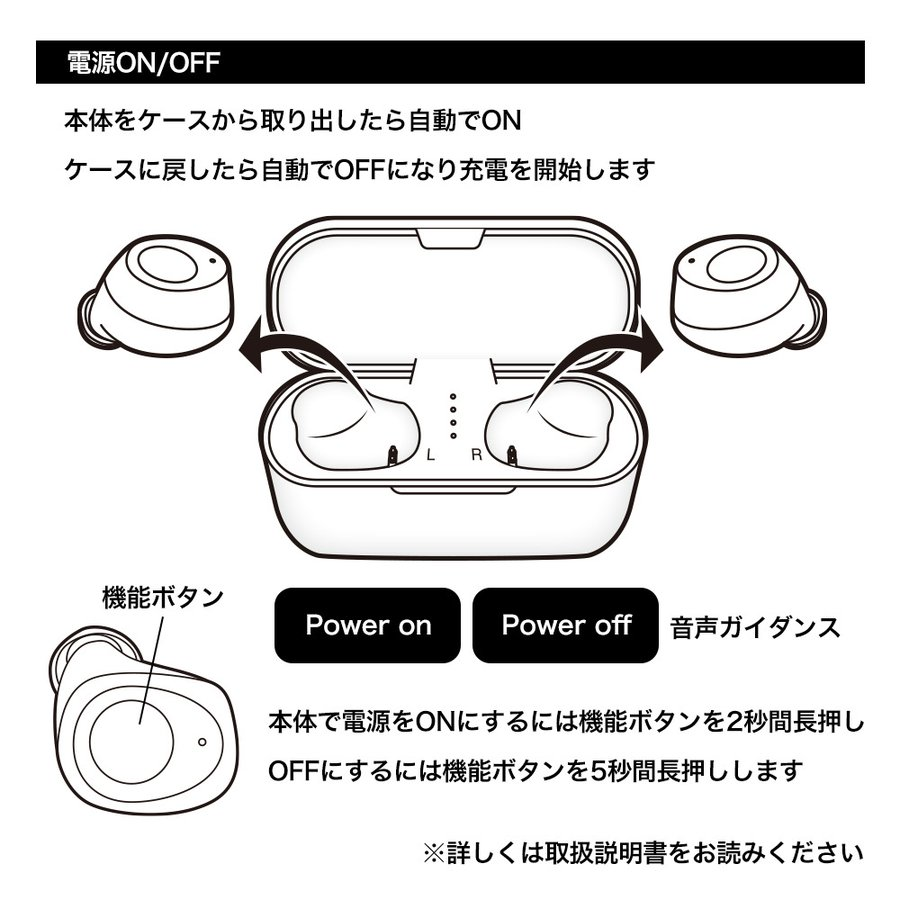 ラスタバナナ iPhone スマホ Bluetooth 5.1 完全ワイヤレス ステレオ イヤホン マイク ブルートゥース 左右分離型 通話可能 Type-C充電口 ハンズフリー|keitai-kazariya|11