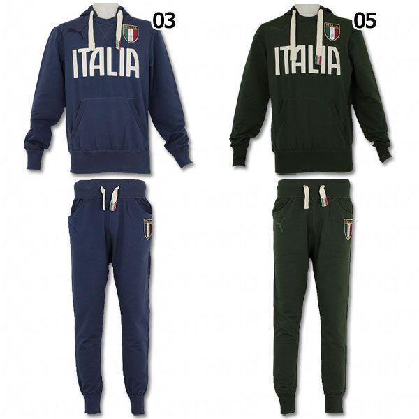 イタリア代表 2014 FIGC Italia フーディーパンツセット 【PUMA|プーマ】ナショナルチームウェアー746911-746912