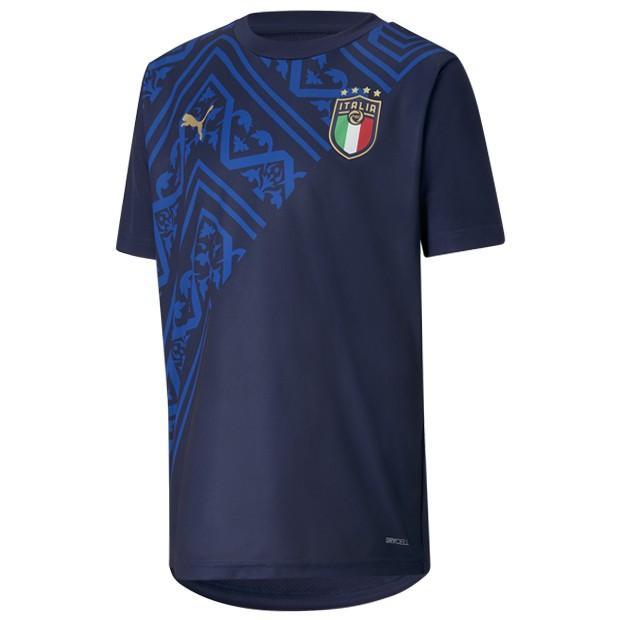 ジュニア イタリア代表 アウェイ 新色追加 スタジアムシャツ ナショナルチームウェアー757342-04 PUMA プーマ ピーコート 超特価SALE開催