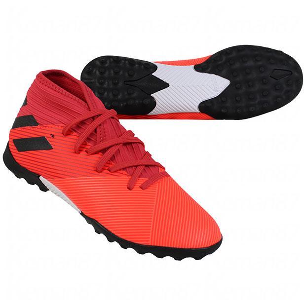 ジュニア ネメシス 19.3 TF 日本未発売 J adidas 高品質 サッカーフットサルジュニアトレーニングシューズeh シグナルコーラル×コアブラック アディダス