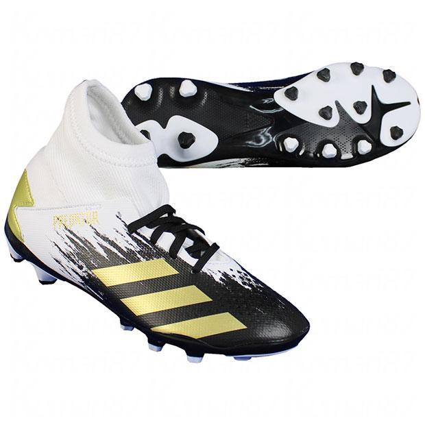 ジュニア プレデター 20.3 HG 流行のアイテム AG サッカージュニアスパイクfw92 adidas まとめ買い特価 フットウェアホワイト×ゴールドメタリック アディダス J