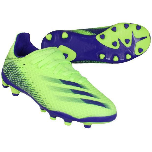 ジュニア エックス 本物 ゴースト.3 HG 返品交換不可 AG サッカージュニアスパイクh67624 シグナルグリーン×エナジーインク J adidas アディダス