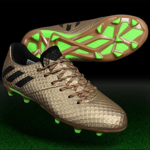 ジュニア メッシ 16.1 FG/AG J ライトコッパーメットS12×コアブラック 【adidas|アディダス】サッカージュニアスパイクba9830
