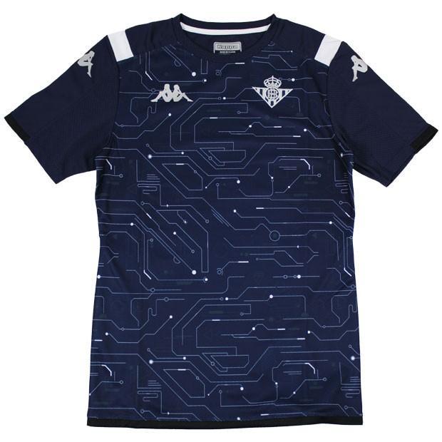 レアルベティス 半袖トレーニングシャツ ブルー 【kappa|カッパ】クラブチームウェアーkf952ts56g-bl