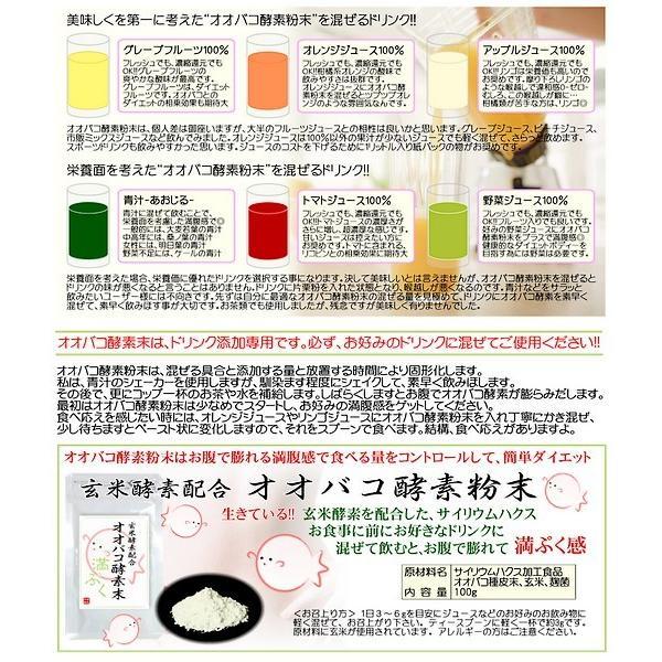 オオバコ酵素粉末 100g 30〜40倍に膨れる食物繊維で満腹感 ドリンクに混ぜてダイエット おおばこ サイリウムハスク メール便無料|kenbihonpo|05