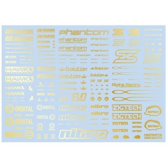 スポンサーロゴデカール01S ゴールド 新品ハイキューパーツ   HiQparts プラモデル 改造 (弊社ステッカー付) kenbill