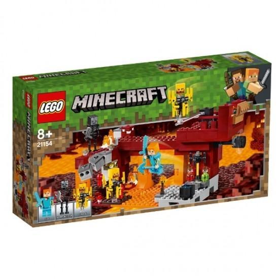 ブレイズブリッジでの戦い 21154 新品レゴ マインクラフト LEGO Minecraft 知育玩具 (弊社ステッカー付)