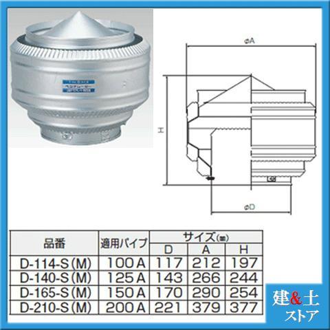 固定式ベンチレーター SUS304製 型式S4302-D-210-S(M) 網付き