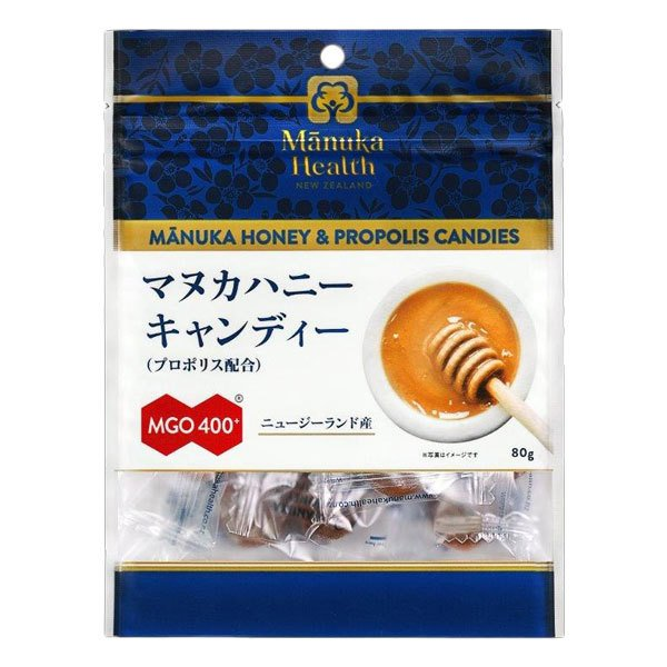 マヌカヘルス マヌカハニーキャンディー プロポリス配合 MGO400+ 80g  - 富永貿易 kenjin