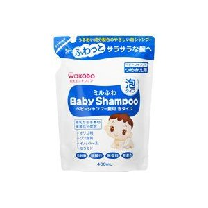 ミルふわ ベビーシャンプー髪用 泡タイプ ついに再販開始 400ml 新色追加して再販 つめかえ用