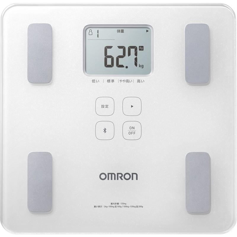 【新品】 全国送料無料 オムロン カラダスキャン 体重体組成計 (HBF-228T-SW)-健康管理、計測計