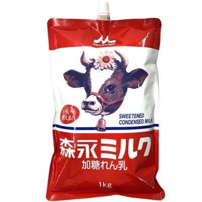 森永 ミルク 定番キャンバス 1kg スパウトパウチ 練乳 日本最大級の品揃え