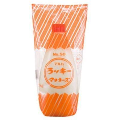 丸和油脂 手数料無料 ラッキーマヨネーズ 新色追加して再販 チューブ NO.50 1kg 業務用