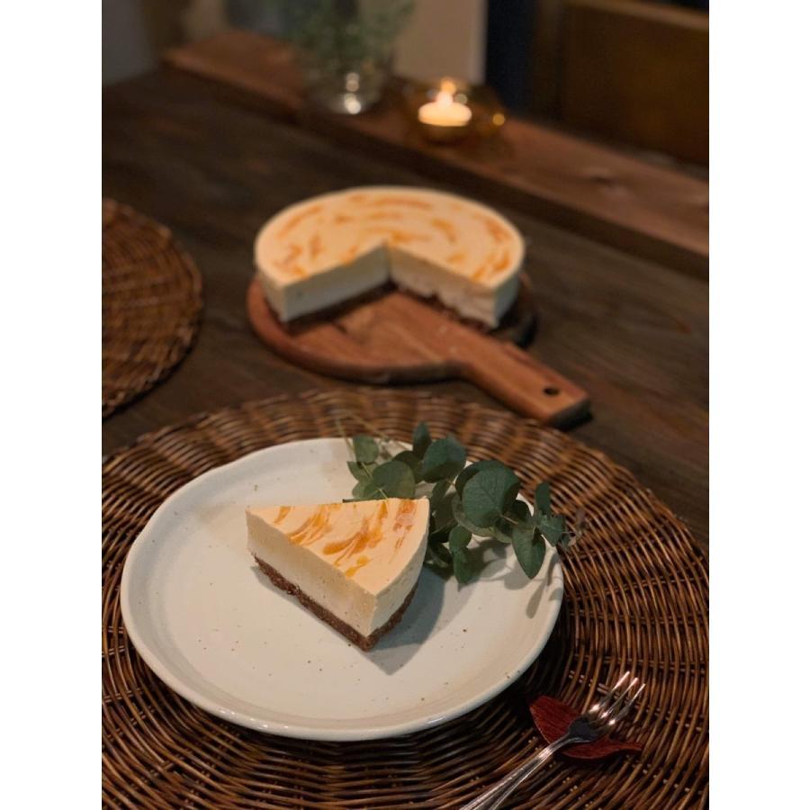 金柑のレアチーズケーキ 18cm6号ホール グルテンフリー・砂糖不使用・低糖質・ロースイーツ kenko-factory