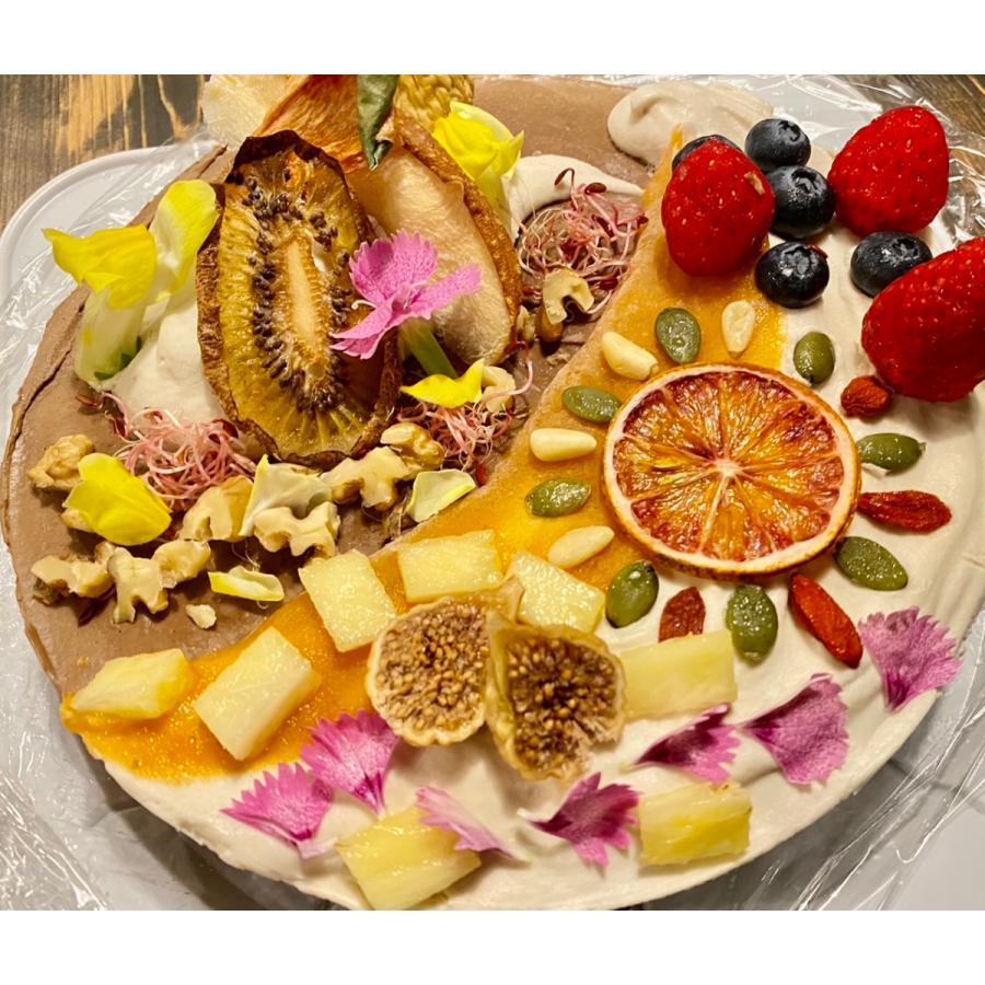 アボカドチョコのアートなケーキ 18cm6号ホール グルテンフリー・砂糖不使用・低糖質・ロースイーツ kenko-factory