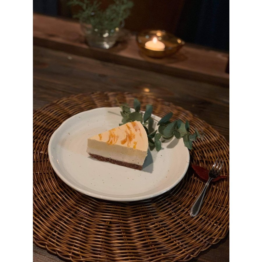 金柑のレアチーズケーキ 18cm6号ホール グルテンフリー・砂糖不使用・低糖質・ロースイーツ kenko-factory 02