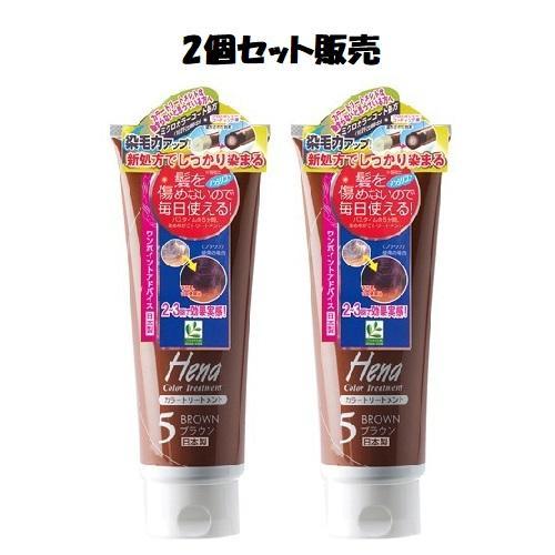 「2個セット販売」テンスター ヘナ カラートリートメント ブラウン 250g kenko-okoku