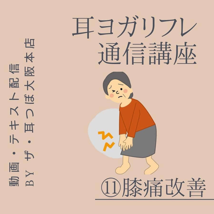 ポイント消化 通信講座 耳ヨガリフレ (11)膝痛解消の耳つぼ|kenkou-mimitsubo