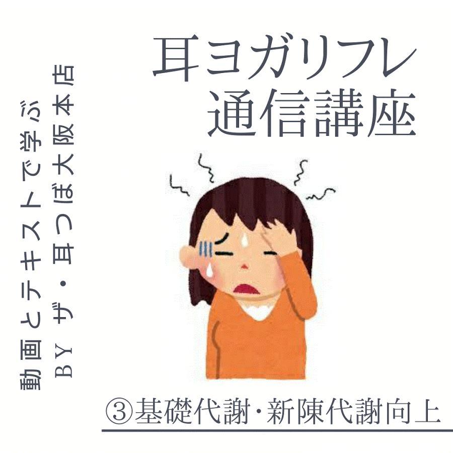 ポイント消化 通信講座 耳ヨガリフレ(3)基礎代謝・新陳代謝向上|kenkou-mimitsubo