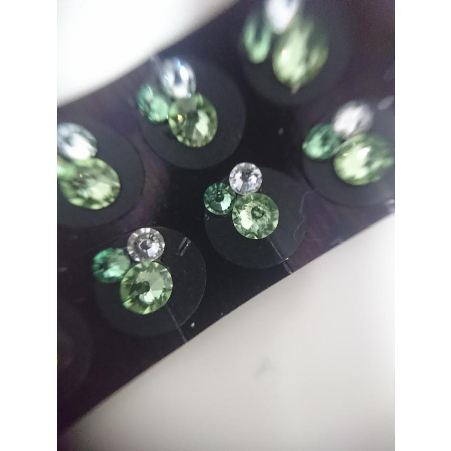 スワロフスキーダイヤモンド 耳つぼジュエリー エスニック チタンクリア20粒|kenkou-mimitsubo|03