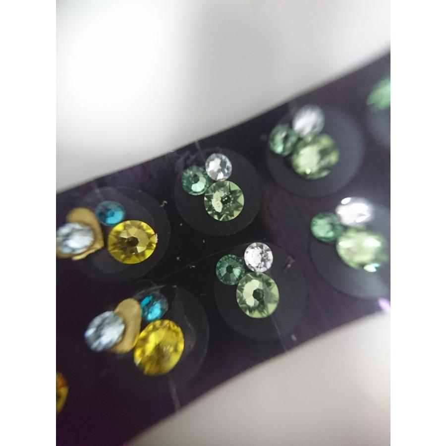 スワロフスキーダイヤモンド 耳つぼジュエリー エスニック チタンクリア20粒|kenkou-mimitsubo|05