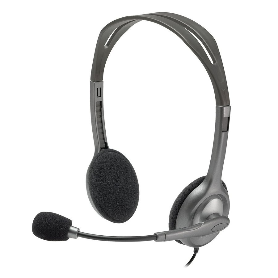 人気商品Logicool ロジクール PS4/PC/Mac/スマホ対応H111r ステレオヘッドセット 3.5mmオーディオジャック|kenseido