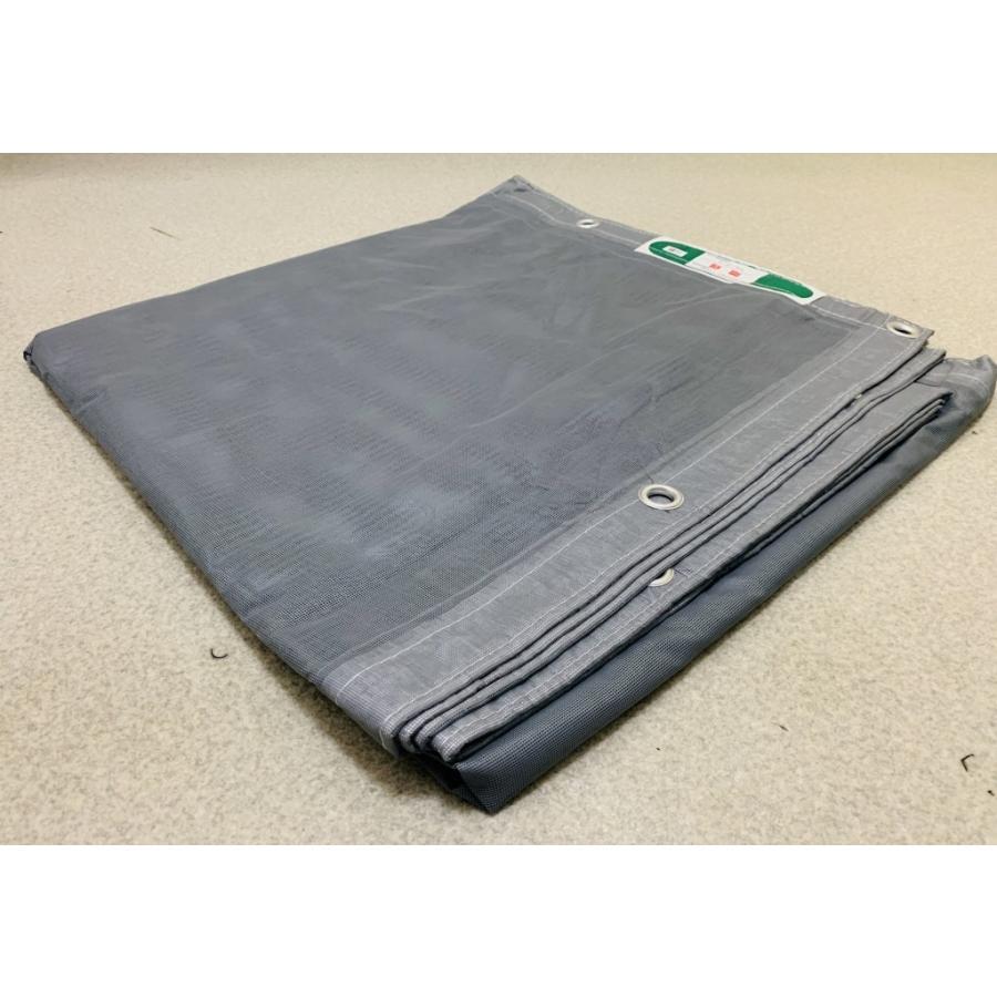 防炎メッシュシート(グレー)灰1.8×5.4(10枚入)ハトメピッチ450足場メッシュシート