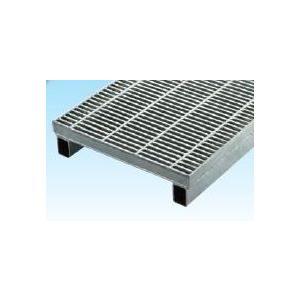 グレーチング一般用かさ上げ細目グレーチング本体寸法mm 390×995×19×100mm 長さ995mm 高さ100mm WKS-X39‐519 標準タイプ