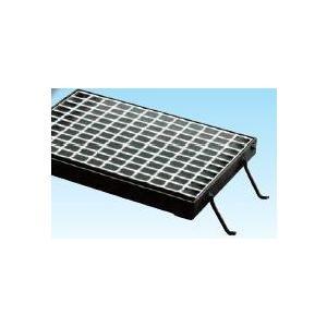 グレーチング溝蓋用110度開閉式 並目ノンスリップ グレーチング本体寸法700×617×75mm 形式記号WM-X66‐975グレーチング本体・受枠セット