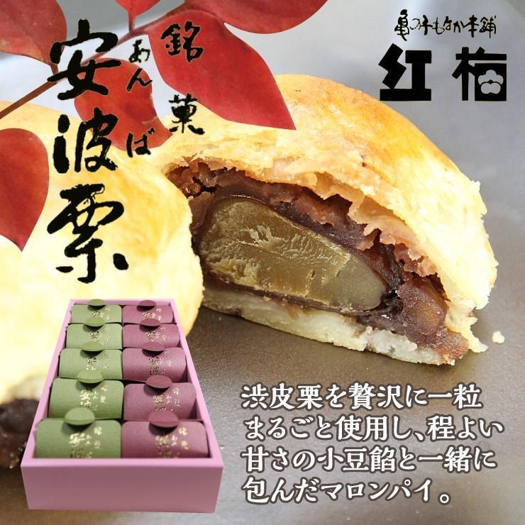 安波栗10個入り 和菓子 マロンパイ 栗 気仙沼 お菓子 個包装 ギフト(紅梅) kesennu-market