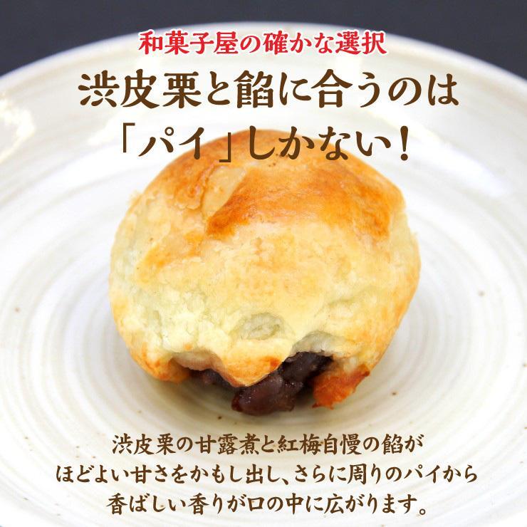 安波栗10個入り 和菓子 マロンパイ 栗 気仙沼 お菓子 個包装 ギフト(紅梅) kesennu-market 03