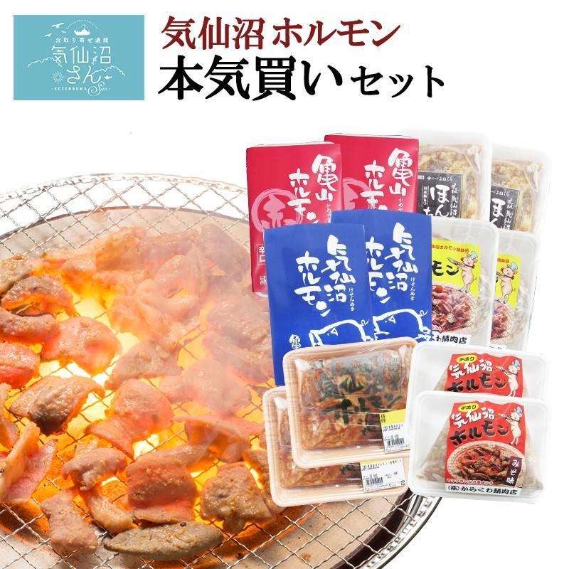 ホルモン 気仙沼ホルモン 本気買いセット みそにんにく味 送料無料 (1kg×6種) 気仙沼さん 豚ホルモン 赤 白 モツ 焼き肉 鍋  お取り寄せ|kesennuma-san