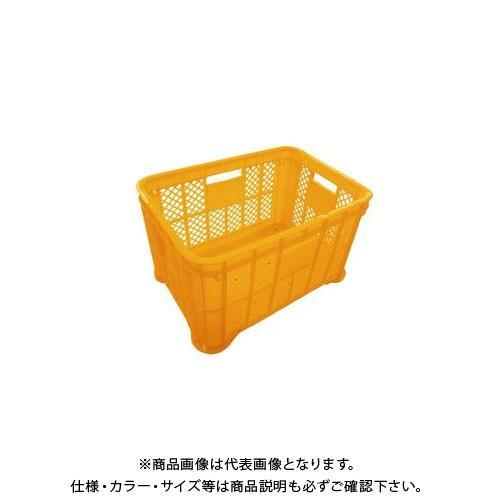 (直送品)安全興業 採集コンテナ オレンジ 平底 520×365×305mm (6入) kg-maido