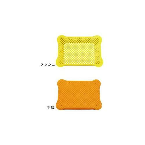 (直送品)安全興業 採集コンテナ オレンジ 平底 520×365×305mm (6入) kg-maido 02