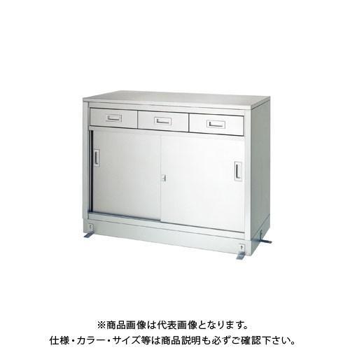 (直送品)(受注生産)シンコー ステンレス保管庫(一段式/引出付) 1200×600×950 LD-12060