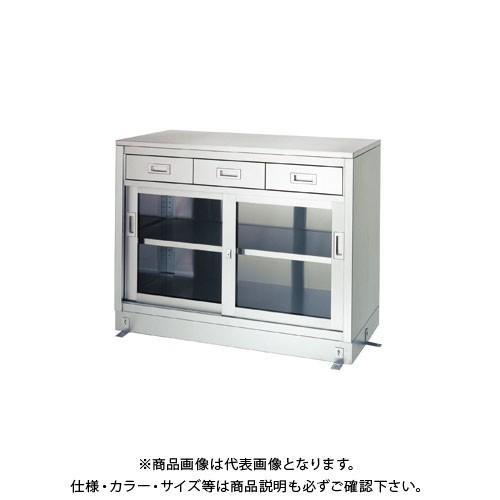 (直送品)(受注生産)シンコー ステンレス保管庫(一段式/引出付) 900×600×950 LDG-9060