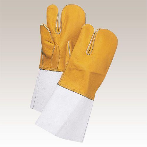 大中産業 [10双入] 熔接用手袋 牛コンピ 3本指 YG-3