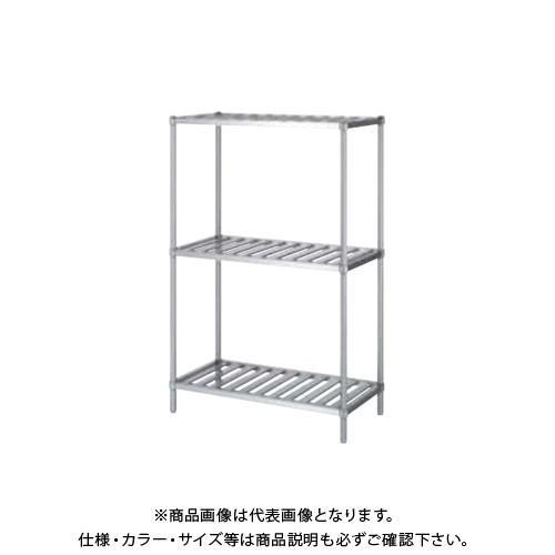 (直送品)(受注生産)シンコー ステンレスラック (スノコ棚3段) 1188×888×1800 RSN3-12090