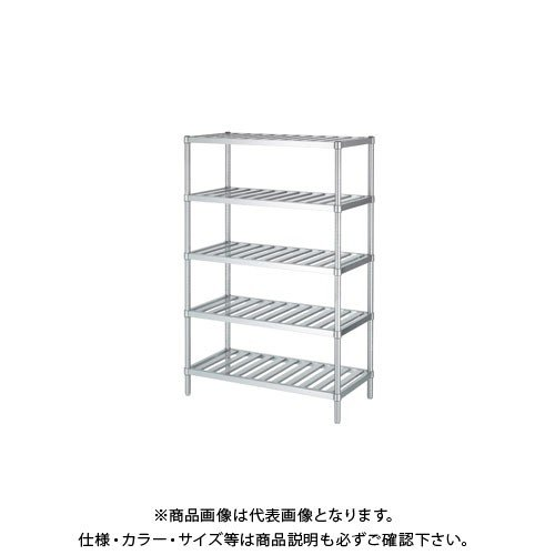 (直送品)(受注生産)シンコー ステンレスラック (スノコ棚5段) 1188×338×1800 RSN5-12035