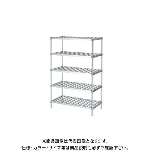 (直送品)(受注生産)シンコー ステンレスラック (スノコ棚5段) 1188×438×1800 RSN5-12045