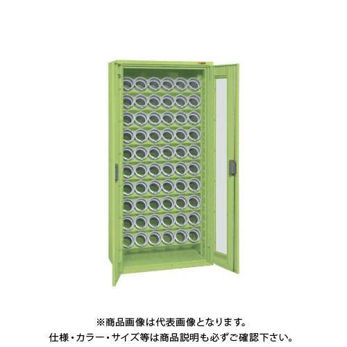 (直送品)サカエ SAKAE 大型ツーリング保管庫 (6個×10段) 832×450×1760 グリーン TLG-AS73A