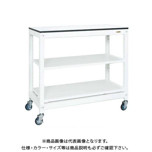 (直送品)サカエ SAKAE マルチプルラック天板付(移動式・コンテナ無) 1250×570×1145 ホワイト MR-10ATLC