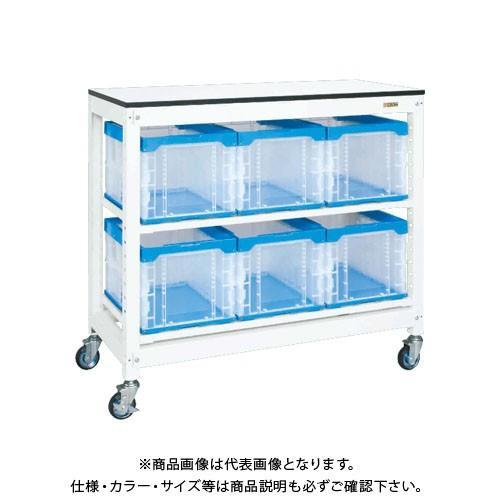 (直送品)サカエ SAKAE マルチプルラック天板付(移動式) 1250×570×1145 ホワイト MR-1050BTLC