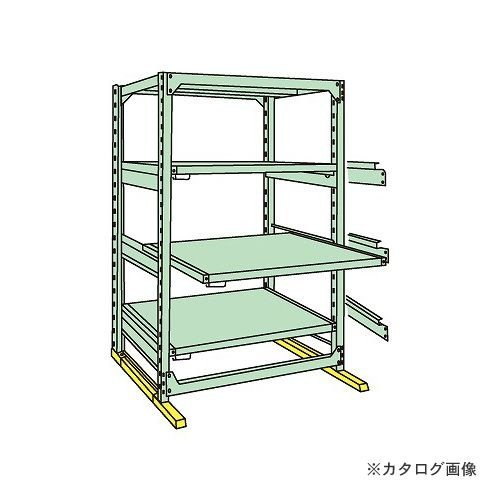 (運賃見積り)(直送品)サカエ SAKAE 中量スライドラック MSR1812K04T