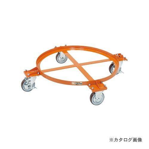 (直送品)サカエ SAKAE 円形ドラム台車 DR-1M