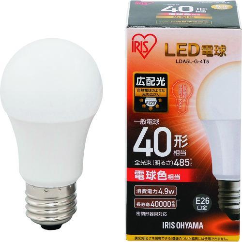 IRIS LED電球 E26広配光タイプ 40形相当 電球色 485lm  LDA5L-G-4T5|kg-maido