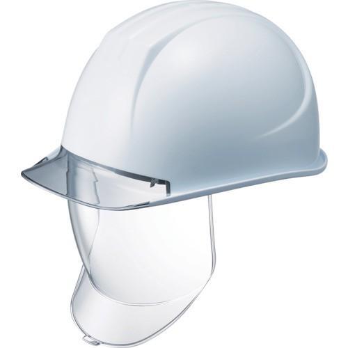 タニザワ 特大型ヘルメット 大型シールド面付 溝付 透明ひさし付 162VL-SD-V2-W3-J