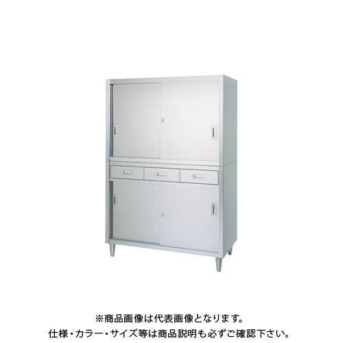 (直送品)(受注生産)シンコー ステンレス保管庫(二段式) 900×450×1750 VAD-9045